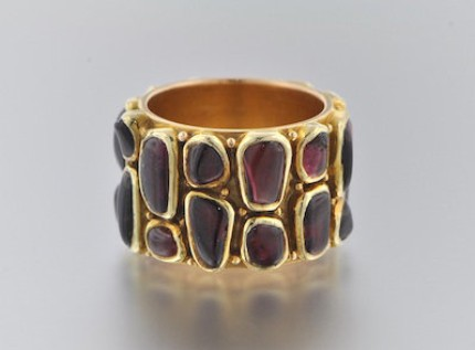1960s 18K Gold and Tourmaline Ring by H. Fred Skaggs
